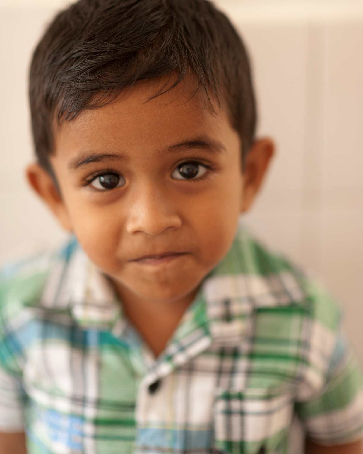 A young child at the Moratuwa MJF Foundation Centre where a comprehensive programme to address the needs of children from marginalised communities is being carried out by the MJF Charitable Foundation.