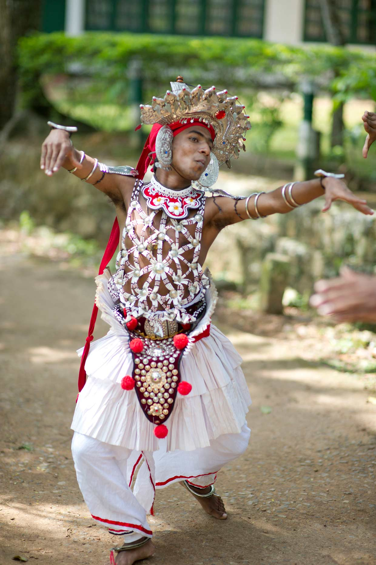 A young dancer from the MJF Kids dance troupe performing the traditional Kandyan dance. Youth from marginalised backgrounds are given an opportunity to better themselves through creativity and appreciation of art at the MJF Centres.