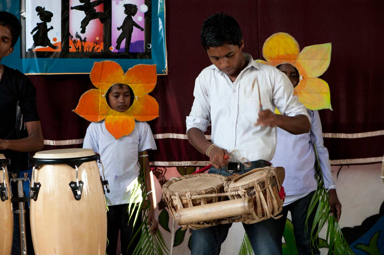 The MJF Kids fusion drumming team performing at the MJF Kids 6th anniversary celebration. The MJF Kids Programme has supported over 750 students reach their true potential though various educational and aesthetic programmes since 2006.