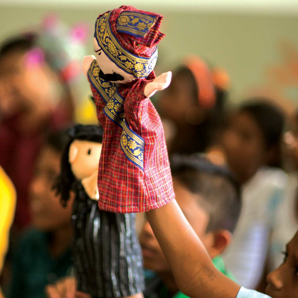 MJF Kids at the Moratuwa Foundation Centre explore creativity through puppetry. The Moratuwa Centre plays a special part in providing educational and creative support for children from marginalised communities since its establishment in 2009.
