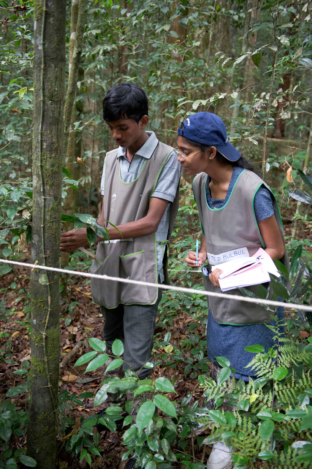 Youth from northern Sri Lanka exploring the Sinharaja World Heritage Site in the south. Using nature as platform to heal the wounds of war is part of Dilmah's Reconciliation through Power of Nature Initiative since 2011.