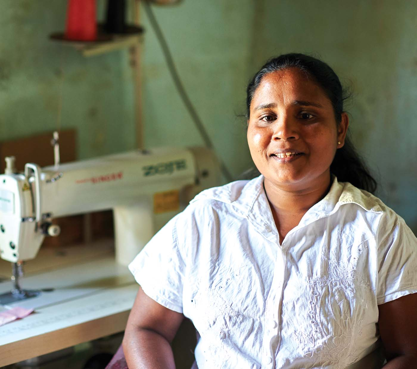 The MJF Charitable Foundation's Prison Reform and Integrate Programme helped Rupa, a mother and wife, transform herself after being released from the correctional system. Today, she leads a productive life and is a respected seamstress in Kuruvita.