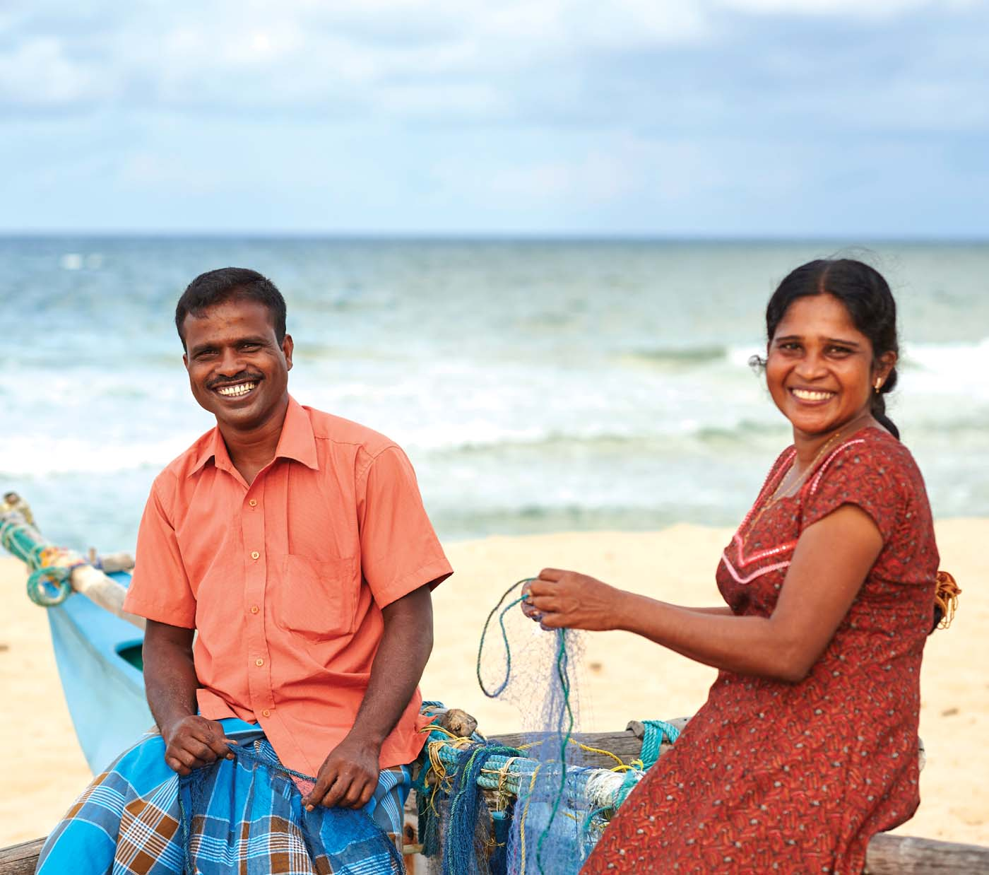 Empowering women marginalised as a result of the now-concluded war in Sri Lanka's North and East is a primary initiative of the Foundation's Small Entrepreneur Programme. Sahundala, a war widow, was provided with fishing nets to sustain a viable income with the help of her brother Rajan.