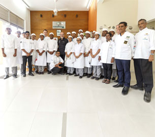 Bocuse d'Or Silver Medalist inspires budding Chefs at the Empower Culinary & Hospitality School, Moratuwa.