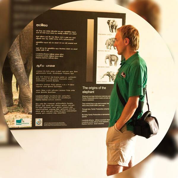 Dilmah Conservation sets up a visitor information centre at Udawalawe Elephant Transit Home.