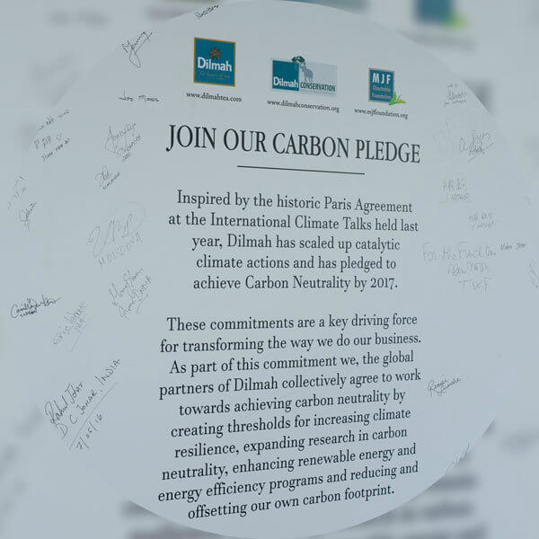 Dilmah's 107 Global partners sign Carbon Neutral Dilmah Pledge