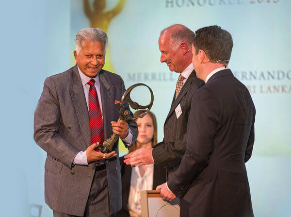 Dilmah Founder Merrill J. Fernando honoured with Oslo Business for Peace Award