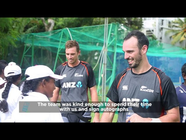 Thank you Blackcaps for inspiring the young cricketers