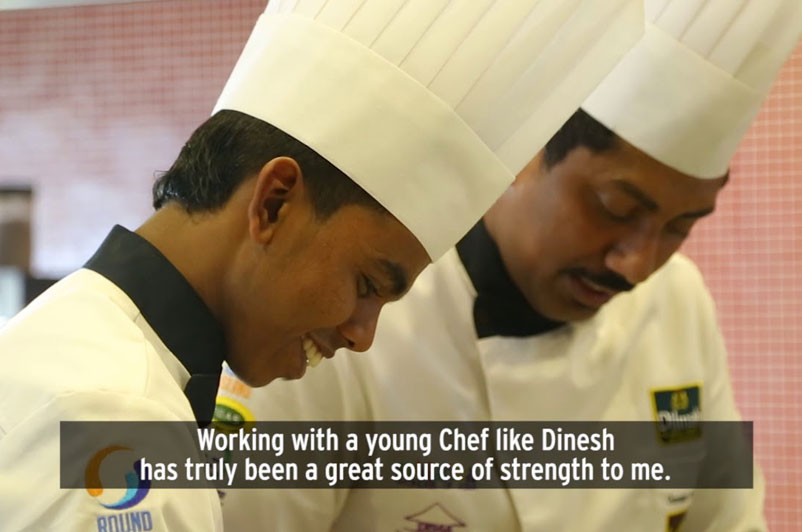 A boy from a tea plantation - winning the Best Commis in Sri Lanka